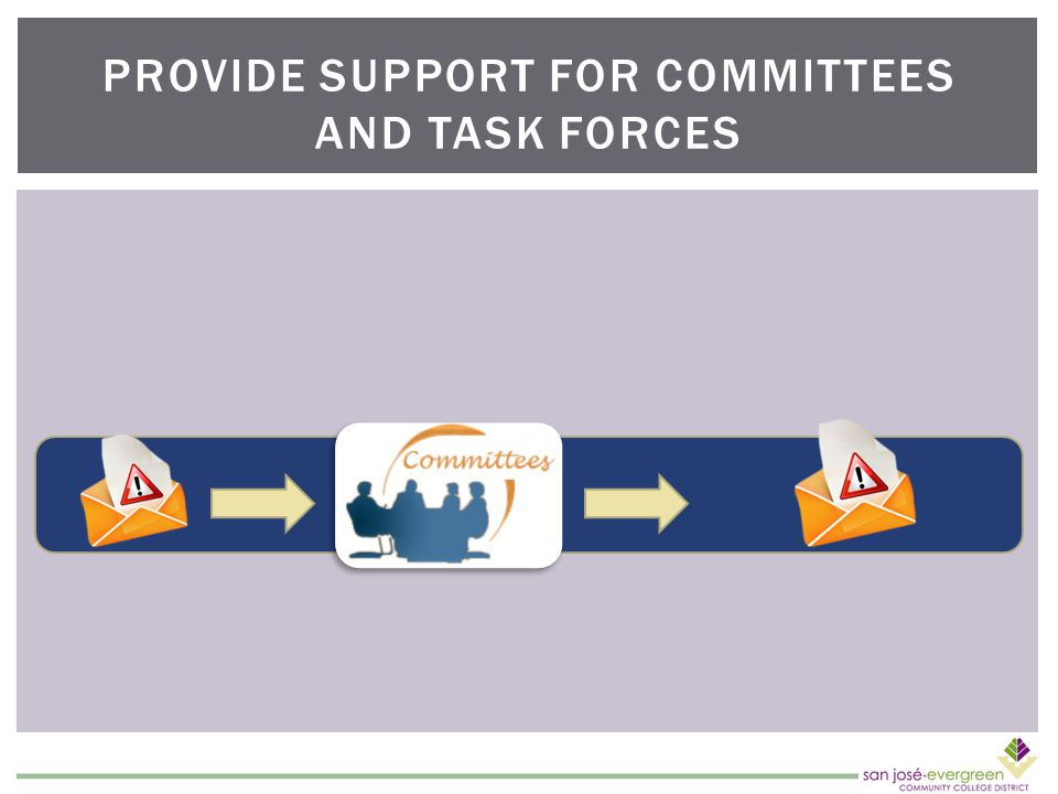 PROVIDE SUPPORT FOR COMMITTEES AND TASK FORCES