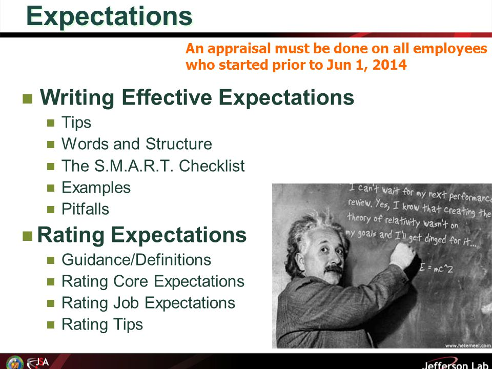 Expectations Writing Effective Expectations Tips Words and Structure The S.M.A.R.T.