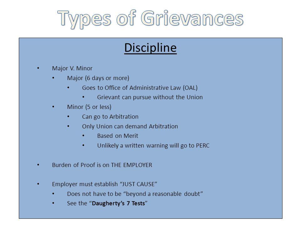 Discipline Major V.