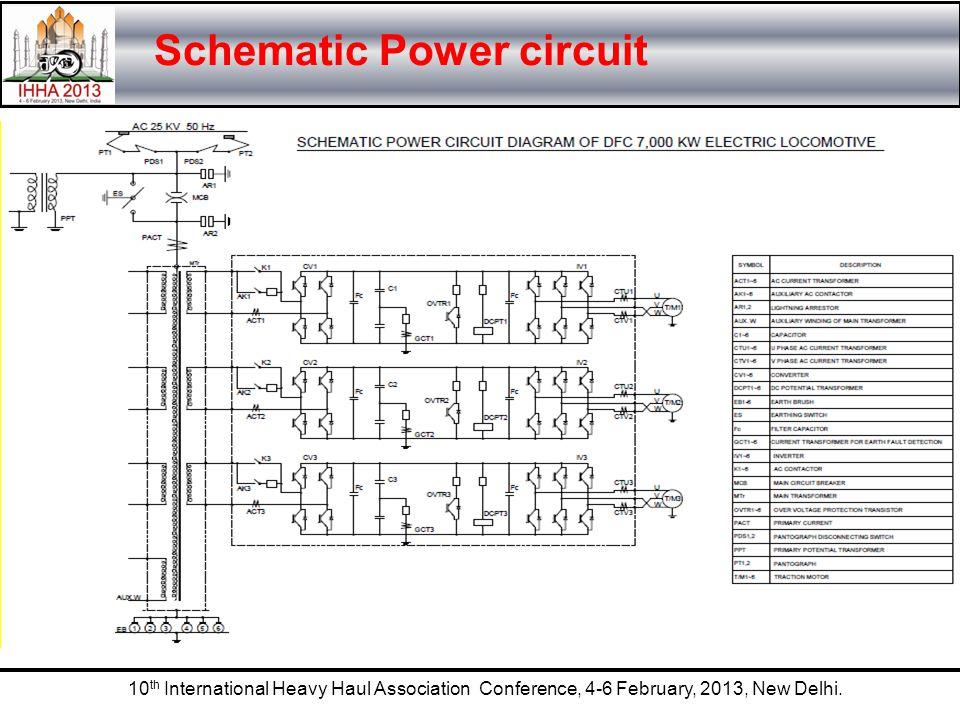 10 th International Heavy Haul Association Conference, 4-6 February, 2013, New Delhi. Schematic Power circuit