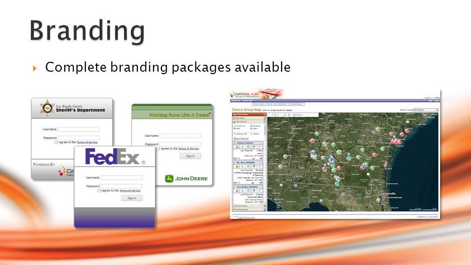  Branding  Customizable Data Points