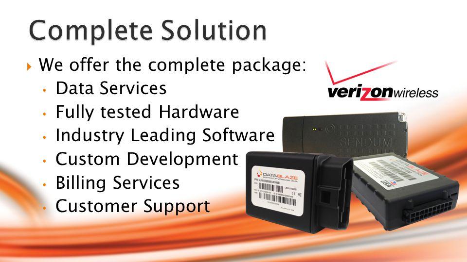 Datablaze specializes in custom software integrations.