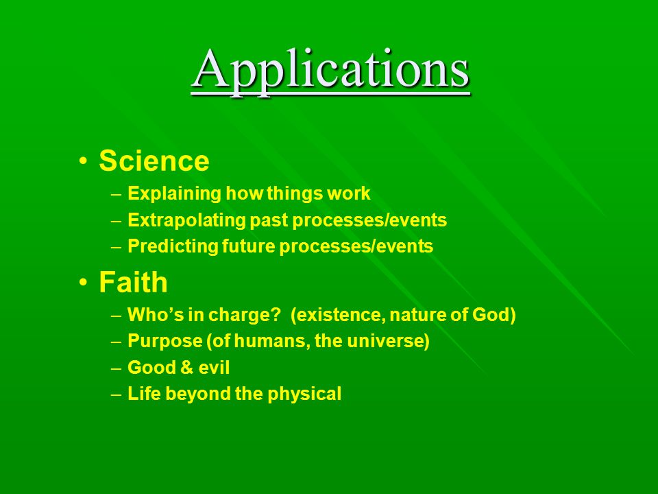 Issues for (Christian) scientists What about apparent scripture/science discrepancies.