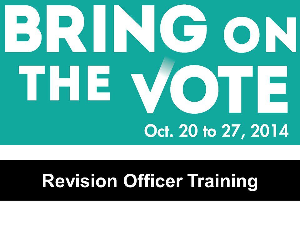 Revision Officer Training