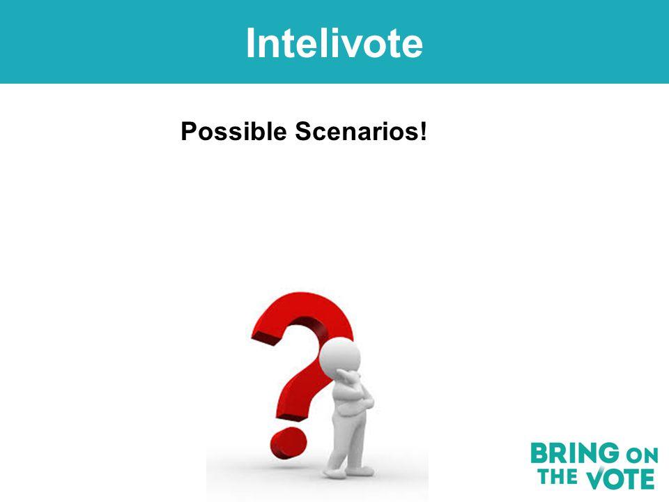 Customer Service Possible Scenarios! Intelivote
