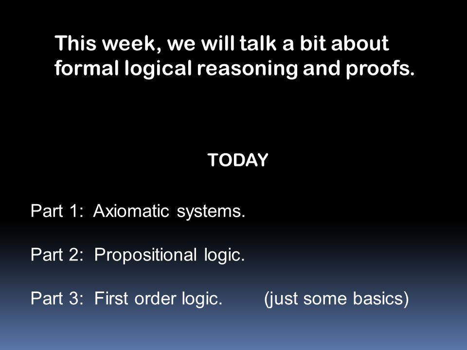 Axiomatic Systems