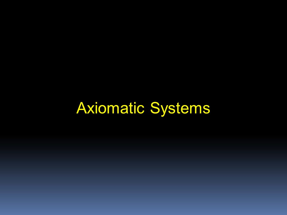 Axiomatic System for Validity.Let's call this the LOGIC TEXTBOOK axiomatic system.