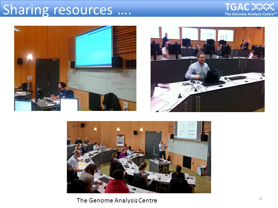 5 The Genome Analysis Centre Space for TGAC's training suite…