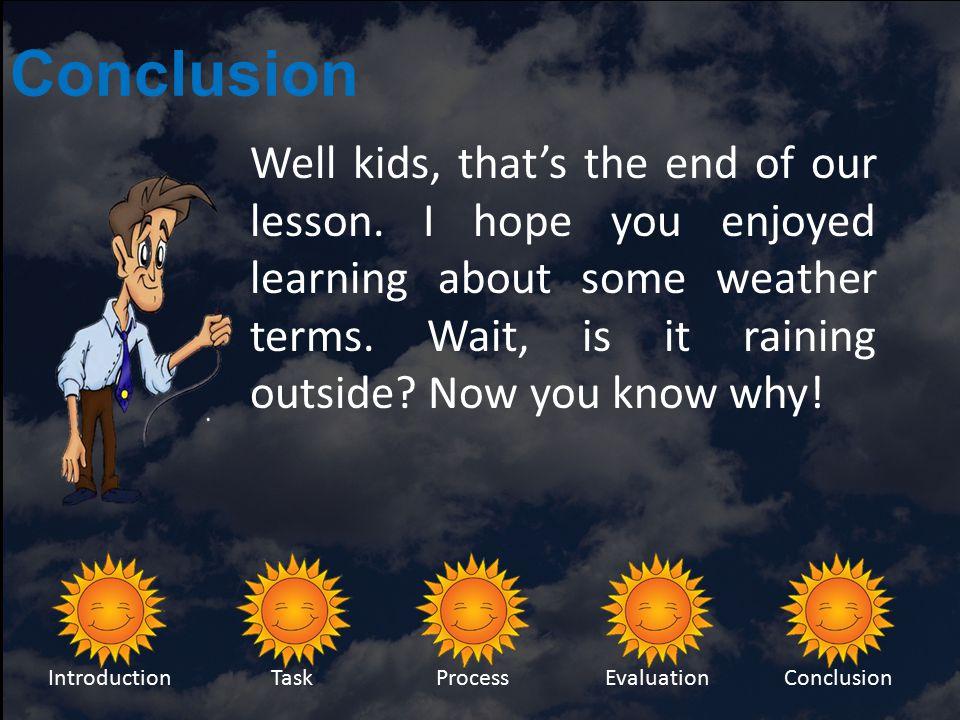 Evaluation IntroductionTaskProcessEvaluationConclusion