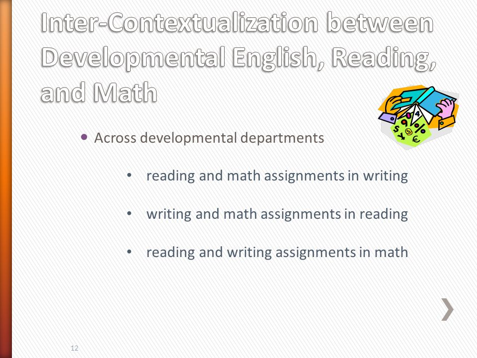 Contextualization is : Teaching writing by using content from academic classes Teaching writing relevance Teaching writing for academics