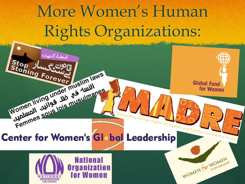 More Women's Human Rights Organizations:
