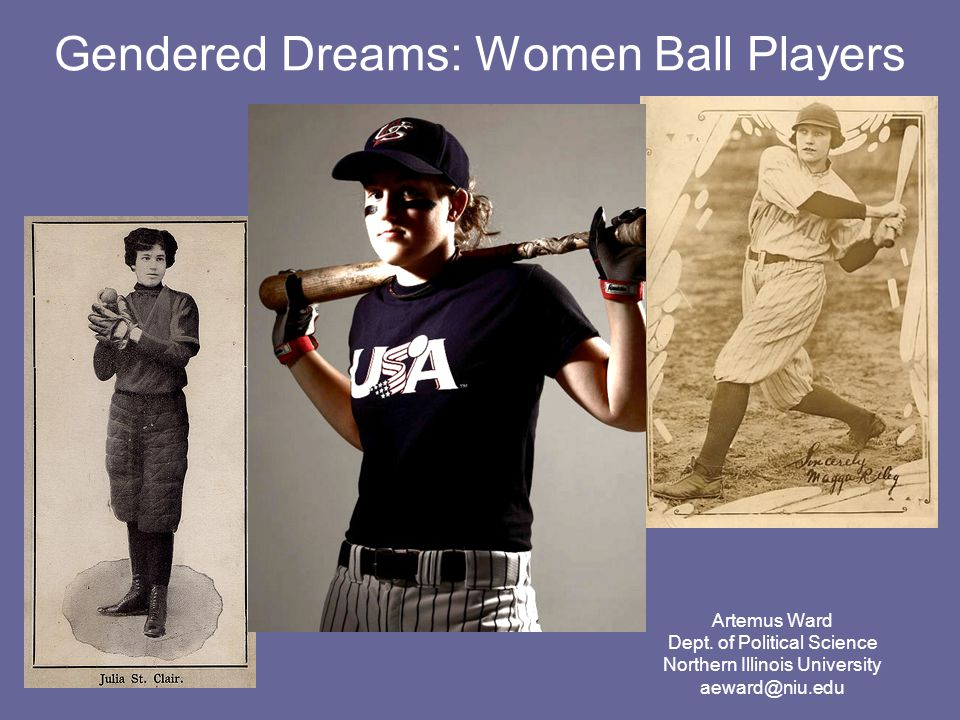 Introduction Women have been playing baseball alongside men since baseball's earliest years.