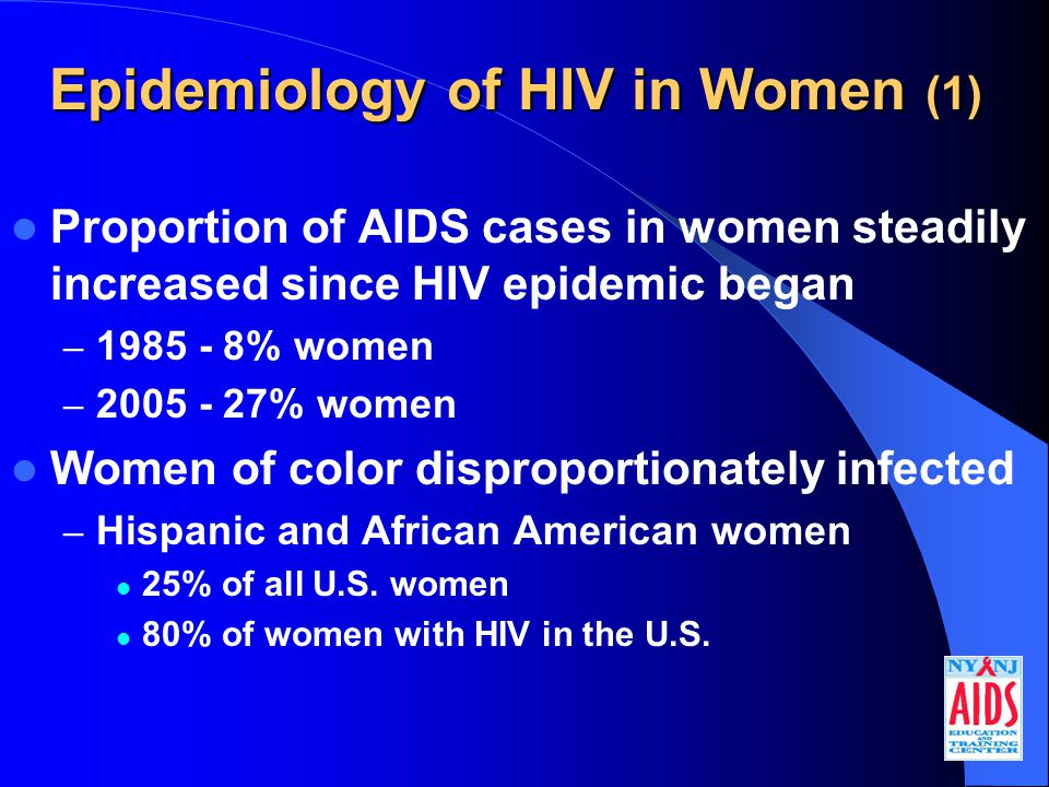 HIV and Pregnancy: Studies (1)  Meta-analysis: 7 studies of effects of pregnancy on HIV disease; no overall significant differences in  death  HIV disease progression  progression to an AIDS-defining illness  fall in CD4 count to below 200/mm 3 (French, 1998)