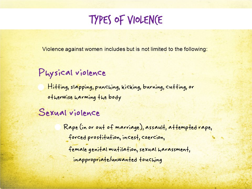 Why should we prevent VAW.