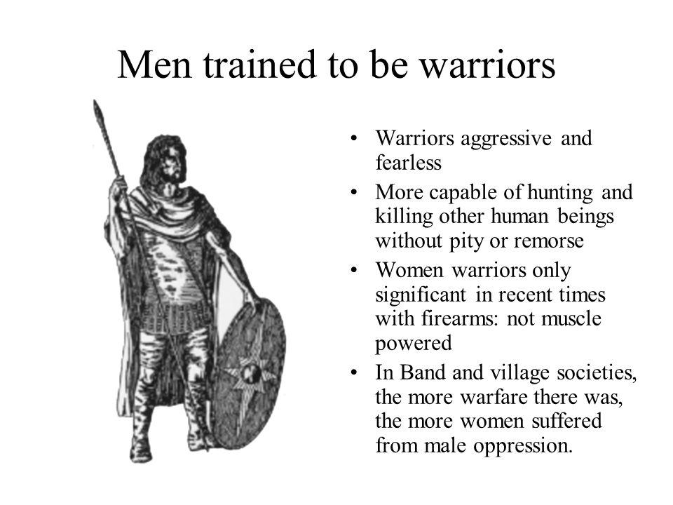 Amount of war correlates to oppression of women