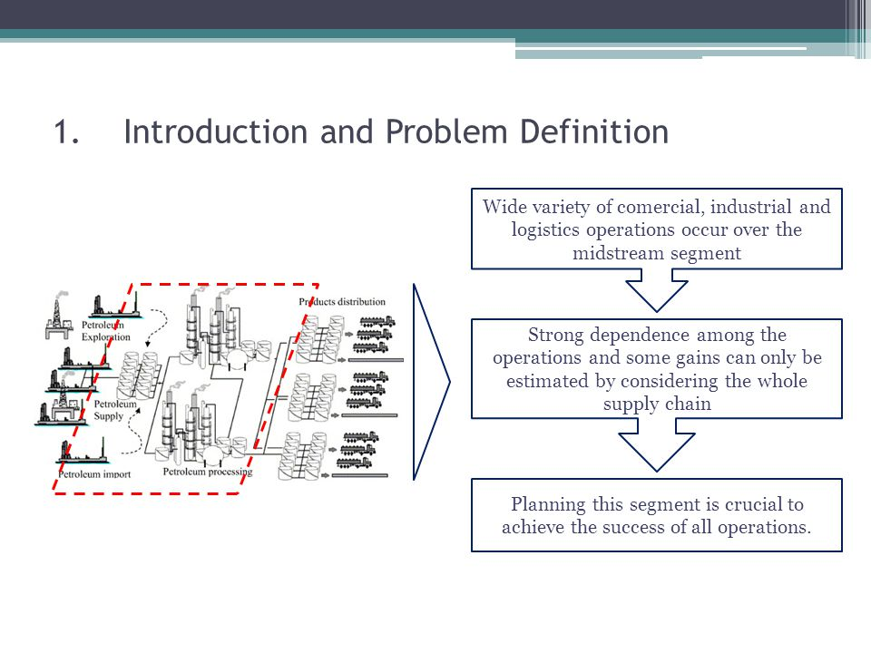 6.Mathematical Model and Problem Approach Second Stage Constraints – scenario dependent - Refinery Operations: 1.Intermediates balance (produced by process unit= product blending + charge blending); 2.Charge Balance (charge blending = consumed by process units); 3.Oil Products Quality Specification; 4.Charge Quality Specification; 5.Process Unit Capacity Limits; 6.Storage Limits; 7.Oil Product Balance (produced by blending + initial storage + received = delivered + final storage).
