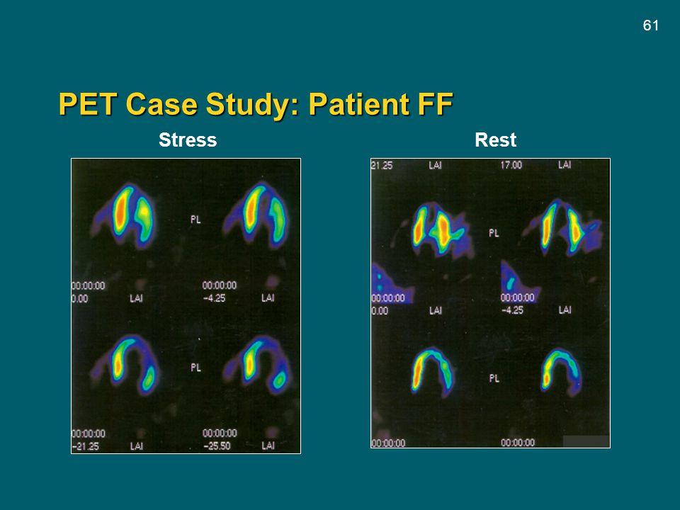 61 PET Case Study: Patient FF Stress Rest
