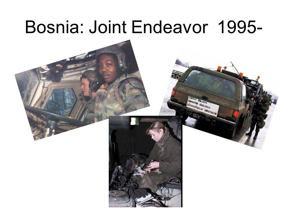 Bosnia: Joint Endeavor 1995-