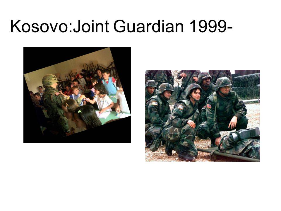 Kosovo:Joint Guardian 1999-