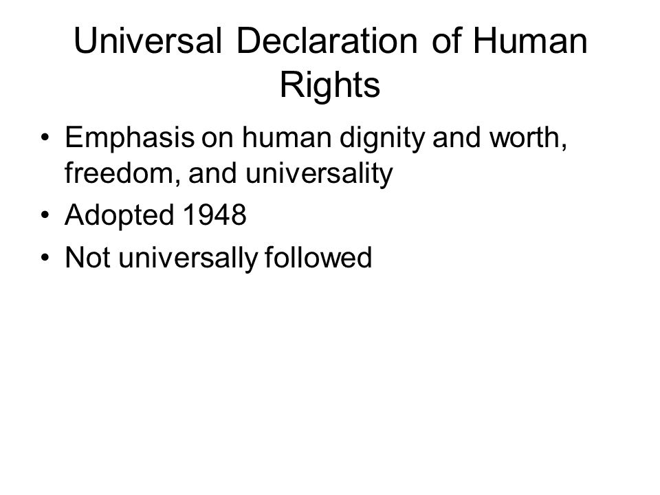 universally accepted declaration of human rights essay Free essay: the preamble of the universal declaration of human rights (udhr) proclaims that the rights discussed in the document are a common standard.