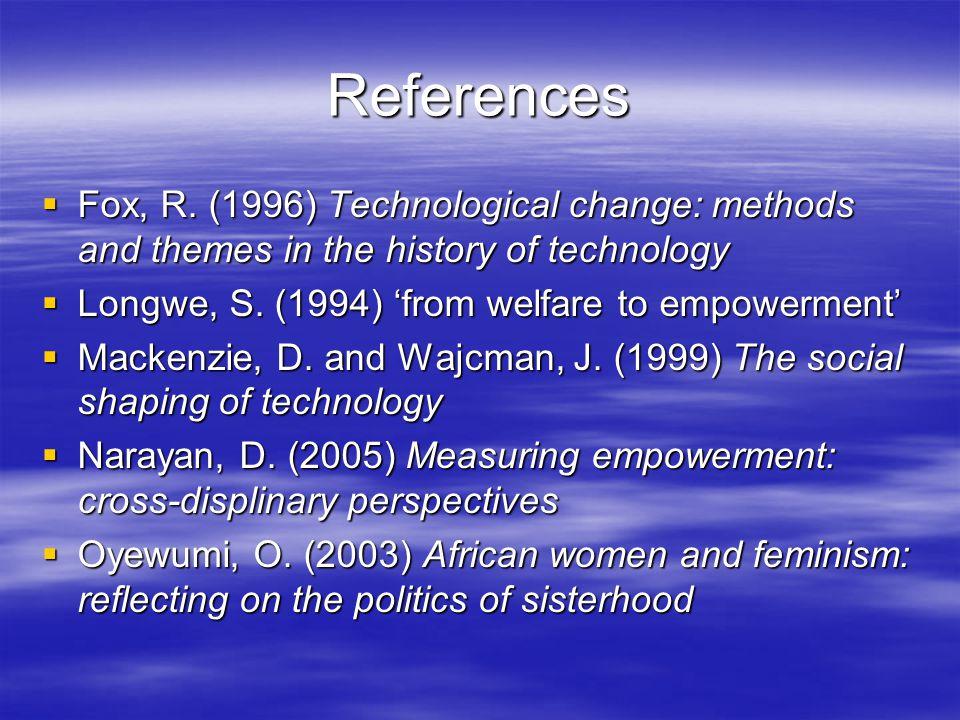 References  Fox, R.