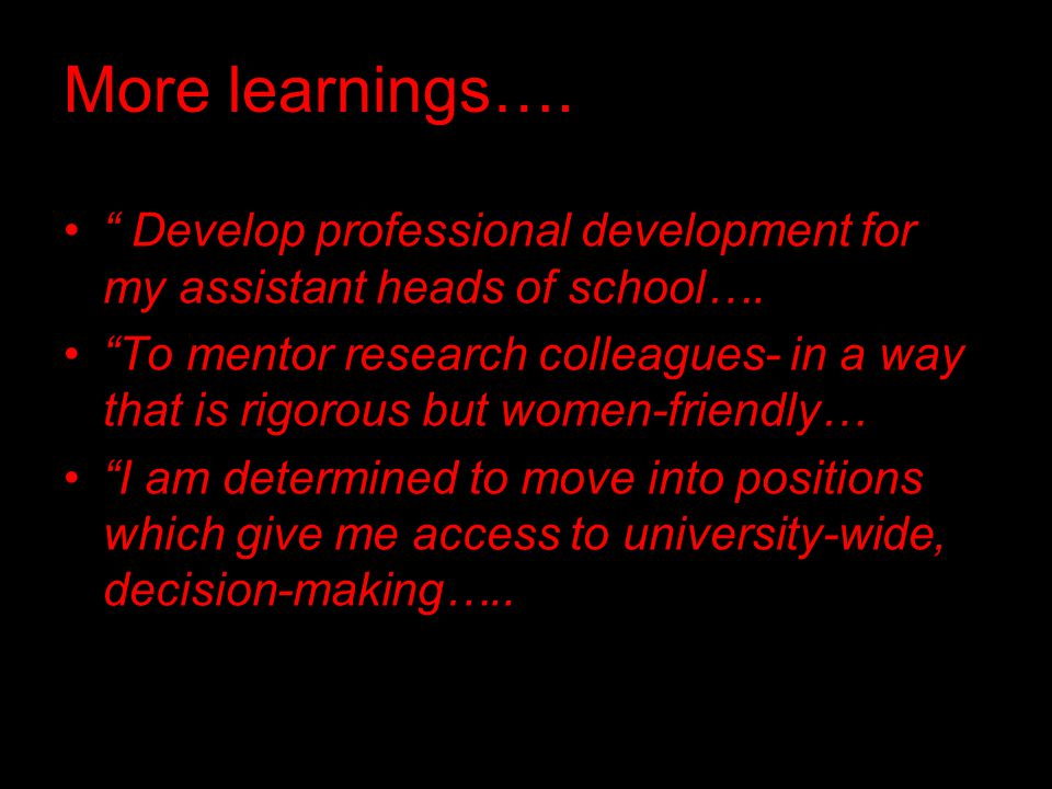 More learnings…. Develop professional development for my assistant heads of school….