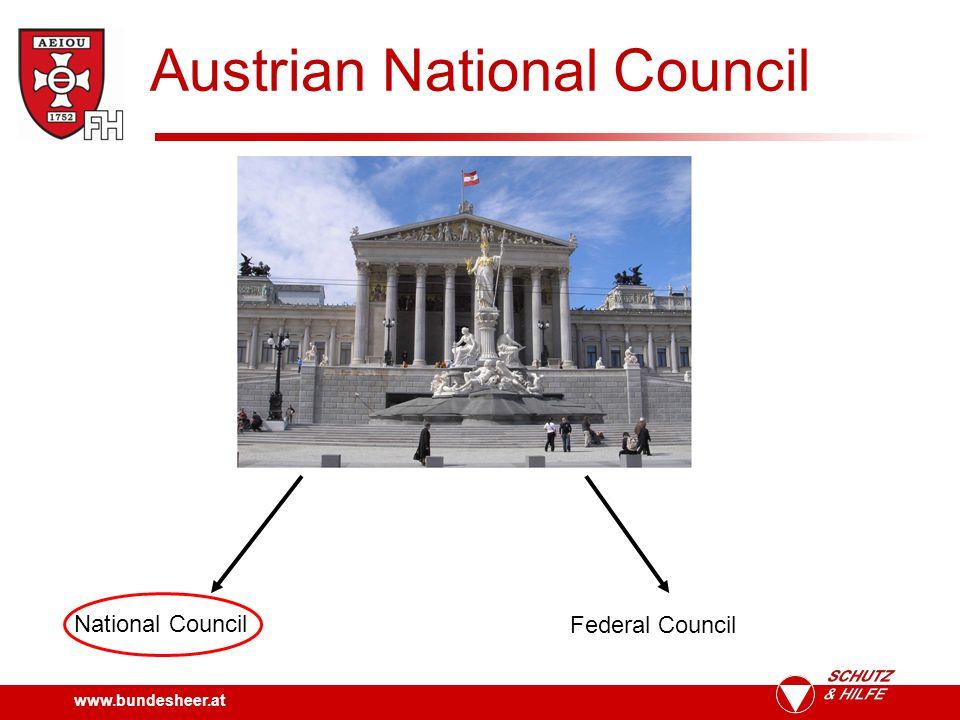 www.bundesheer.at Austrian National Council Main task.