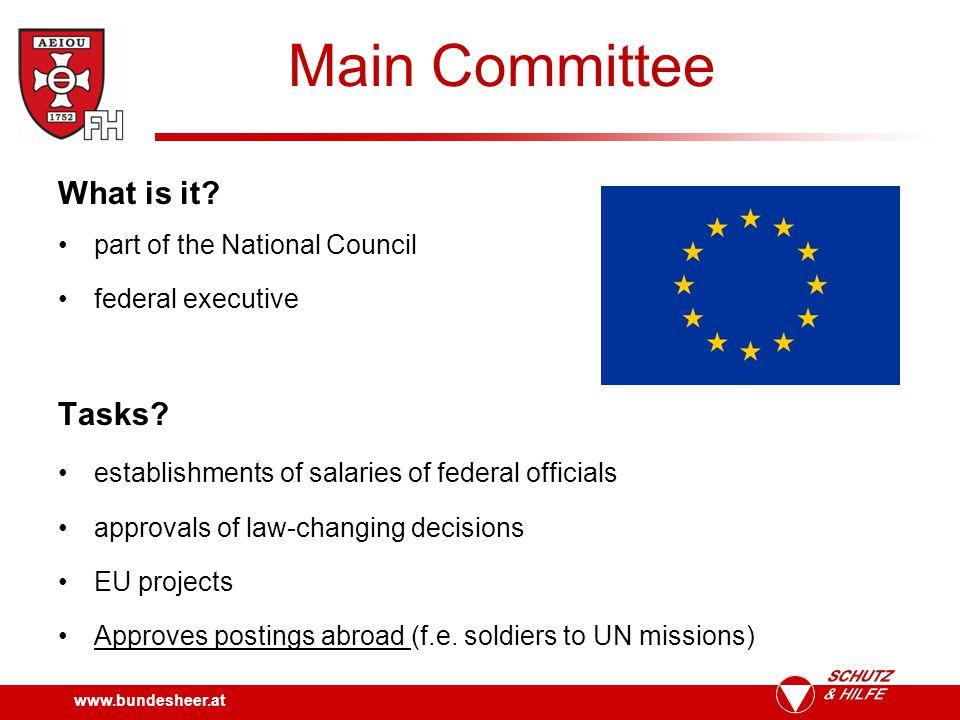 www.bundesheer.at Main Committee Structure.