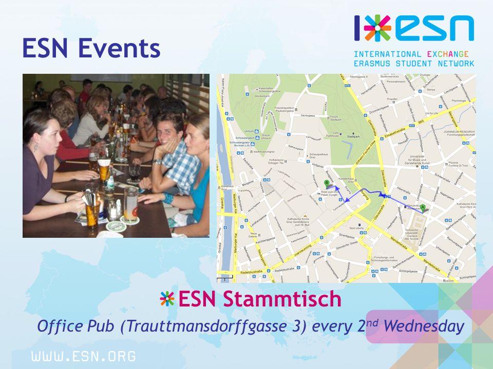 ESN Events ESN Stammtisch Office Pub (Trauttmansdorffgasse 3) every 2 nd Wednesday