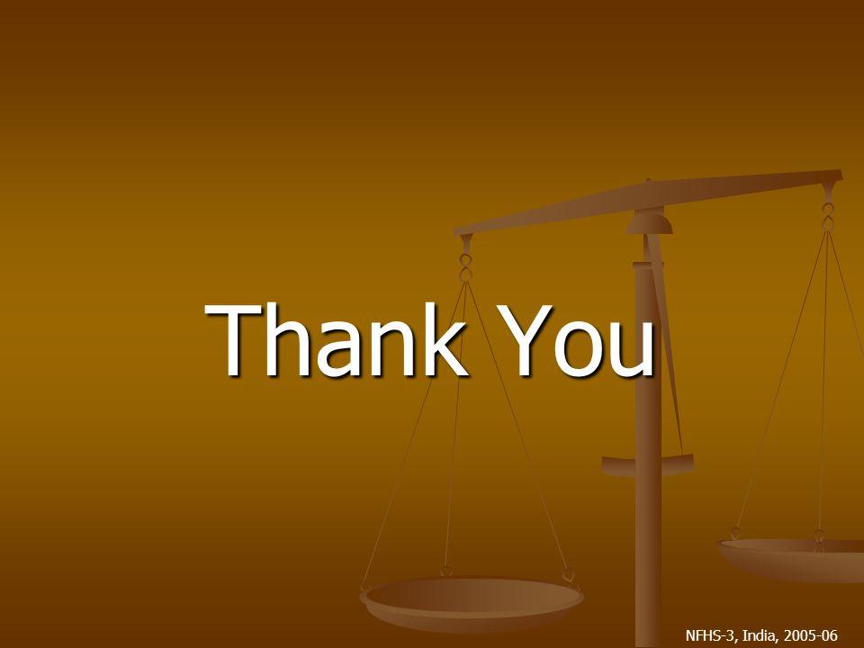 NFHS-3, India, 2005-06 Thank You