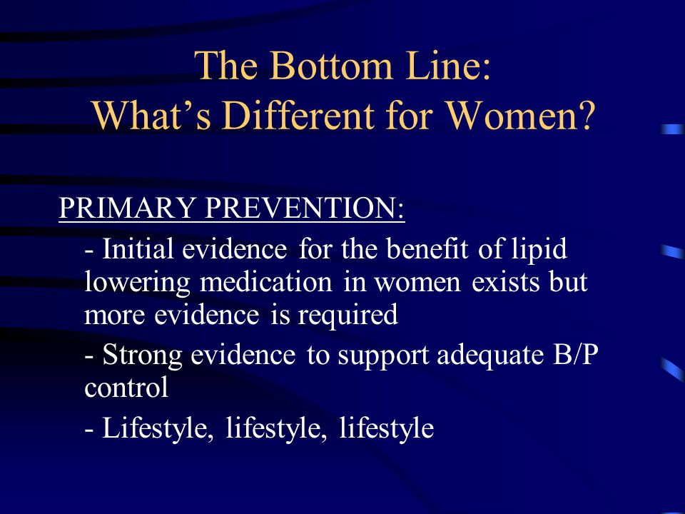 The Bottom Line: What's Different for Women.