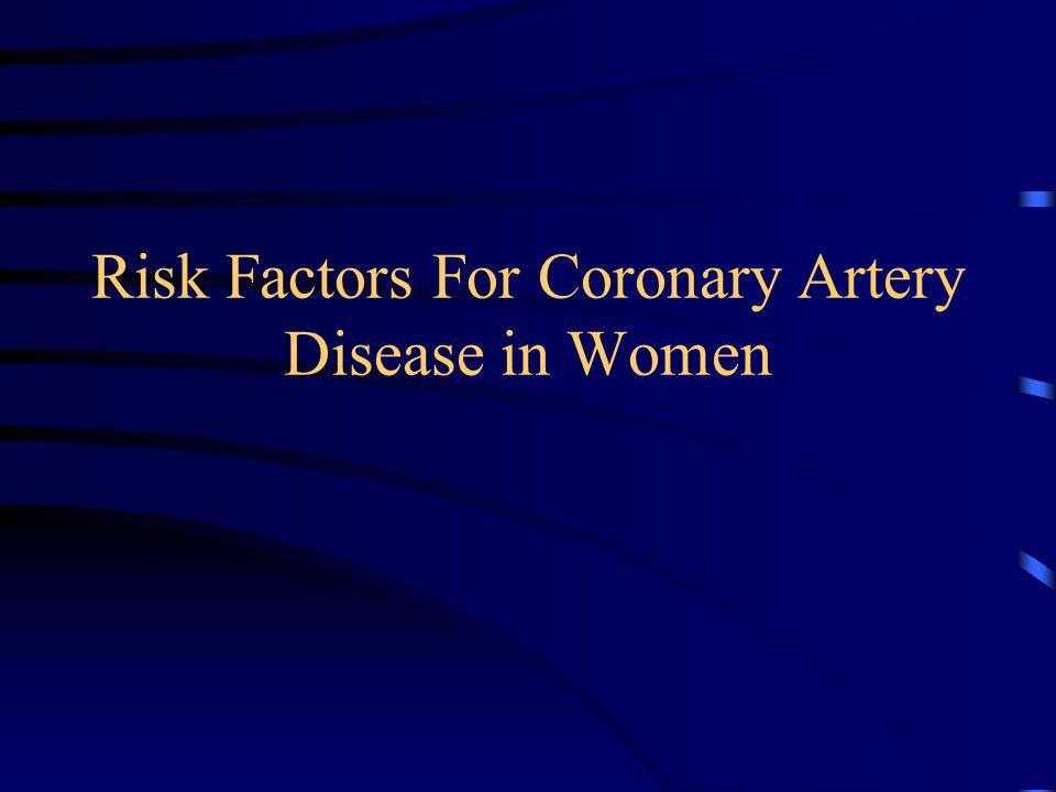 Risk Factors For Coronary Artery Disease in Women