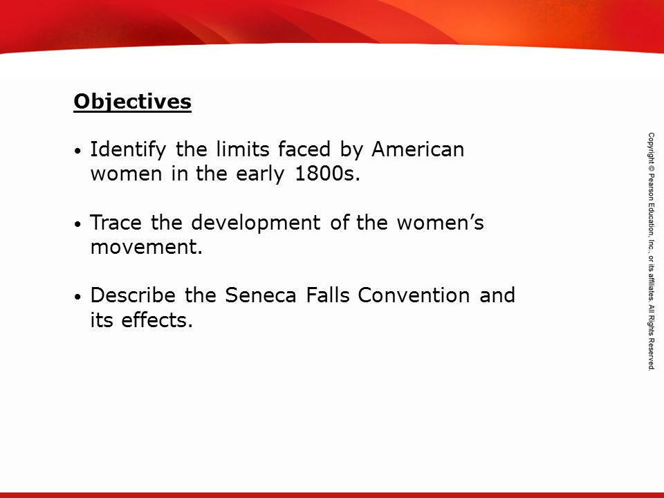 TEKS 8C: Calculate percent composition and empirical and molecular formulas. Identify the limits faced by American women in the early 1800s. Trace the