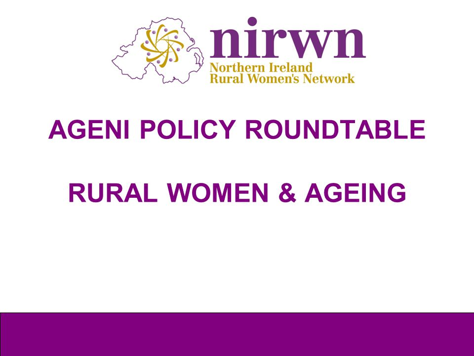 Background to NIRWN What is Rural.