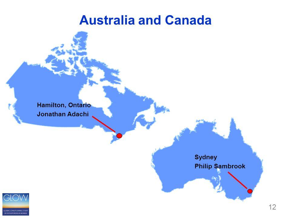 Australia and Canada Sydney Philip Sambrook Hamilton, Ontario Jonathan Adachi 12