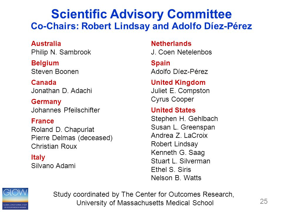 Scientific Advisory Committee Co-Chairs: Robert Lindsay and Adolfo Díez-Pérez Netherlands J.