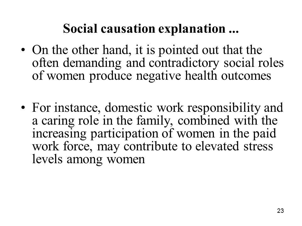 23 Social causation explanation...