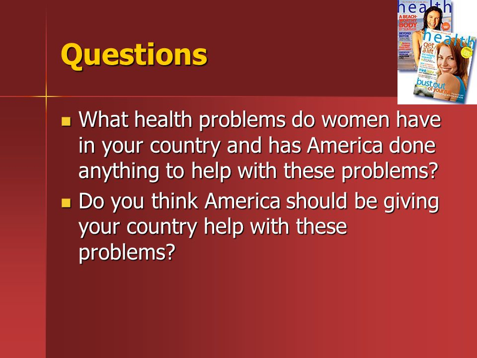 Quick Facts On Women s Health Almost 530,000 women each year die from complications of pregnancy and child birth.