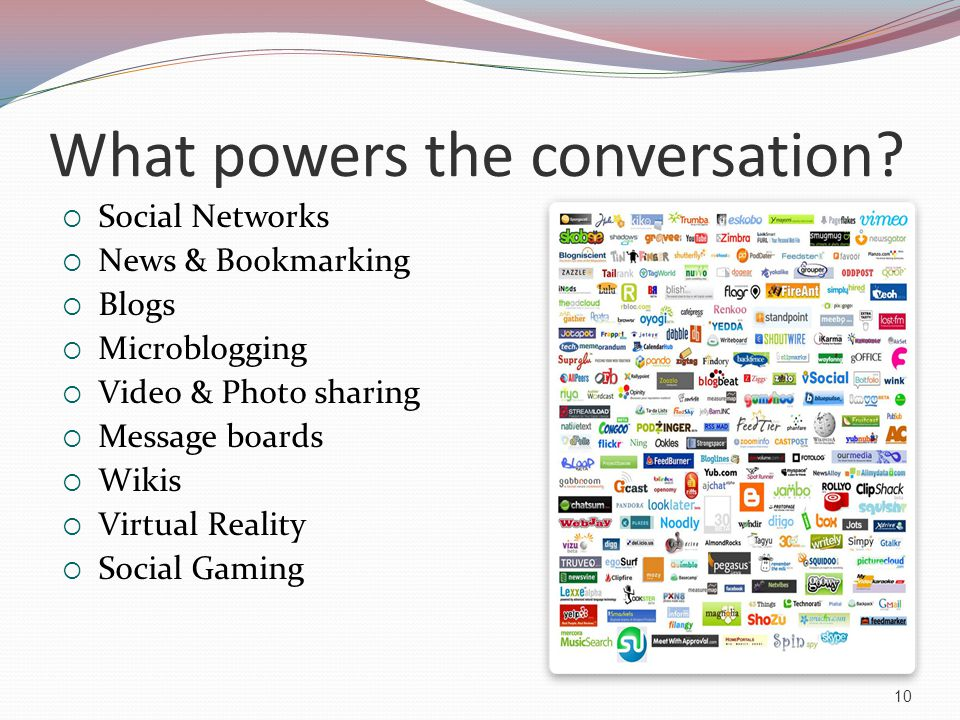 What powers the conversation.