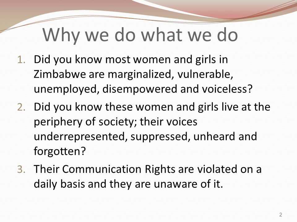 CCCD empowers women and girls with the strategic and creative use of communication to express their needs, to make their voices heard, to manage their own communication, and to participate fully in their own development for long-term social change.