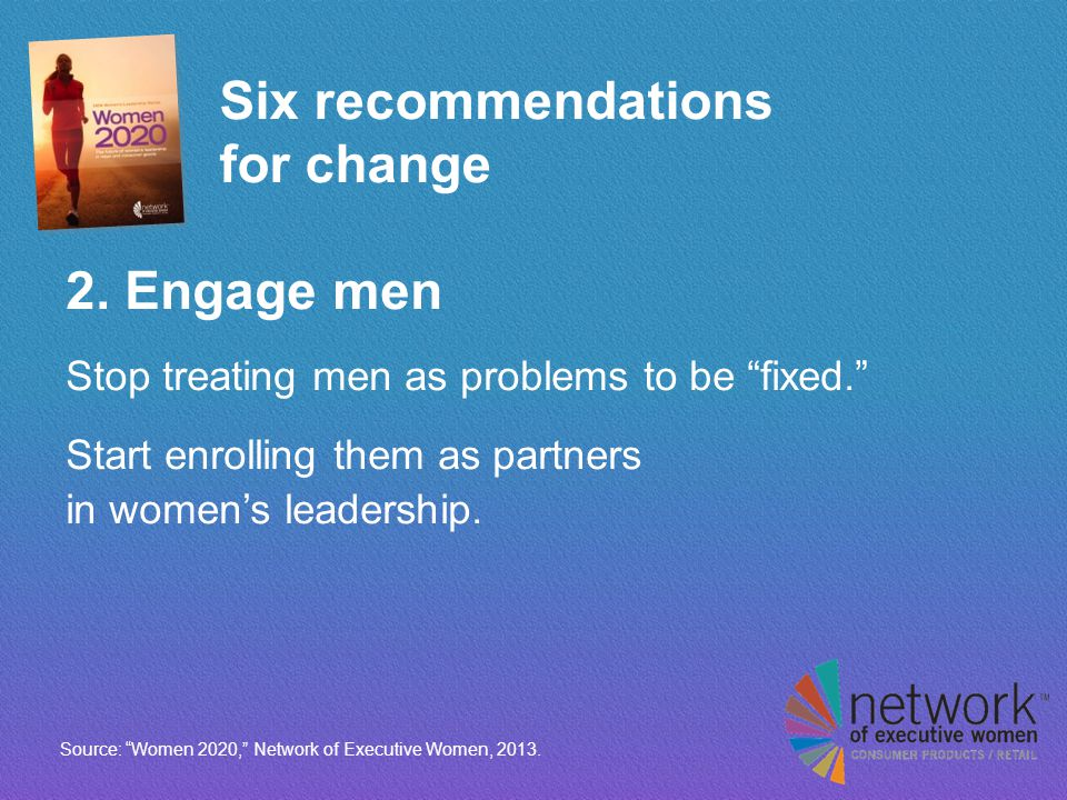 Six recommendations for change 2.