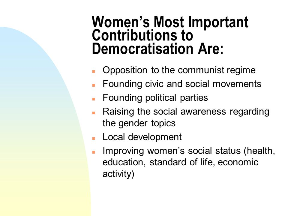The Main Instruments for Achieving These Aims Were: n Protest letters n Dissemination using a diversity of channels,training courses mass-media, internet, seminars, conferences, campaigns) n Voluntary work for community n Doing research and feminist studies n Teaching n Lobbying n Street march and meetings n Public administration