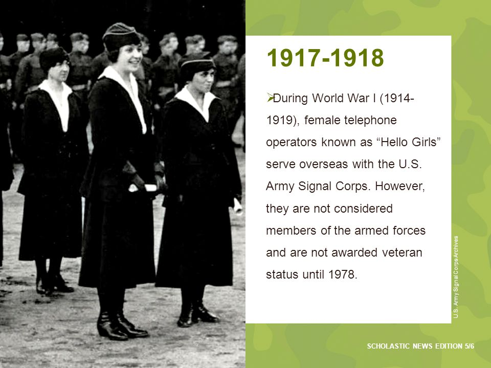 1943  The temporary Women's Army Corps (WAC) is created during World War II (1941-1945).