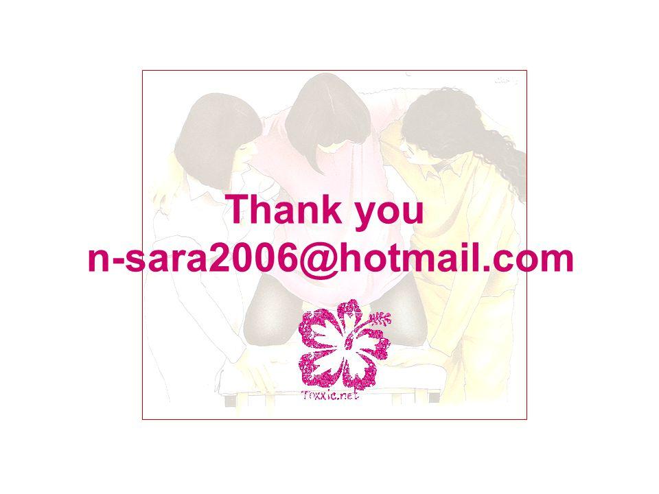Thank you n-sara2006@hotmail.com