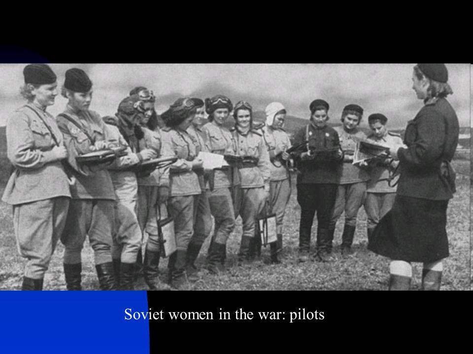 Soviet women in the war: pilots
