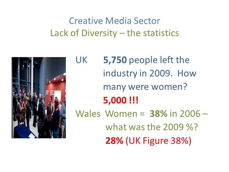Creative Media Sector Why lack of gender balance.