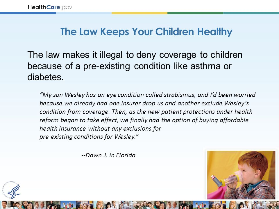 Starting in 2014: Discriminating against people with pre-existing conditions.