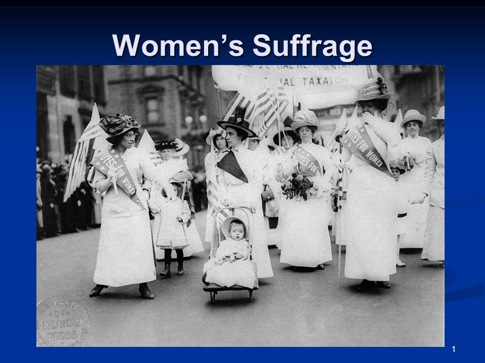1 Women's Suffrage