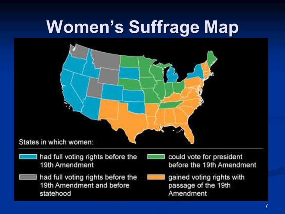 7 Women's Suffrage Map