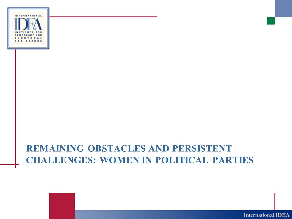 Gender and Political parties ? www.iadb.org/research/geppal